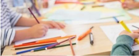Children struggle , pencils, tech